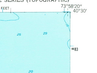 Reduced fragment of topographic map en--usgs--024k--321153--(1954)--N040-30-00_W074-07-30--N040-22-30_W073-58-20; towns and cities Highlands, Leonardo, North Middletown