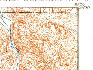 Reduced fragment of topographic map en--usgs--063k--050303--(1900)--N034-30_W118-15--N034-15_W118-00; towns and cities Acton