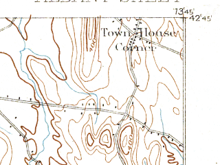 Reduced fragment of topographic map en--usgs--063k--050391--(1893)--N042-45_W074-00--N042-30_W073-45; towns and cities Albany, Loudonville, Roessleville, Colonie, Delmar