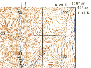 Reduced fragment of topographic map en--usgs--063k--050410--(1943)--N044-30_W119-30--N044-15_W119-15