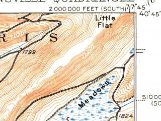 Reduced fragment of topographic map en--usgs--063k--050439--(1938)--N040-45_W078-00--N040-30_W077-45; towns and cities Pine Grove Mills, Ramblewood