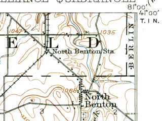 Reduced fragment of topographic map en--usgs--063k--050443--(1909)--N041-00_W081-15--N040-45_W081-00; towns and cities Alliance, Beloit, Limaville, Maple Ridge