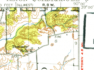 Reduced fragment of topographic map en--usgs--063k--050472--(1927)--N039-00_W090-15--N038-45_W090-00; towns and cities Spanish Lake, Alton, Wood River, Bellefontaine Neighbors, East Alton