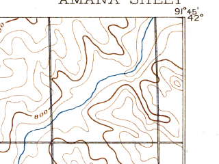Reduced fragment of topographic map en--usgs--063k--050490--(1889)--N042-00_W092-00--N041-45_W091-45; towns and cities Atkins, Fairfax, Newhall
