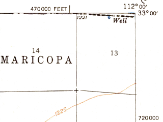 Reduced fragment of topographic map en--usgs--063k--050606--(1948)--N033-00_W112-15--N032-45_W112-00