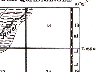 Reduced fragment of topographic map en--usgs--063k--050666--(1926)--N048-15_W097-30--N048-00_W097-15; towns and cities Ardoch, Forest River, Gilby