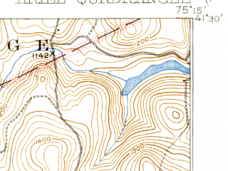 Reduced fragment of topographic map en--usgs--063k--050670--(1932)--N041-30_W075-30--N041-15_W075-15; towns and cities Mount Cobb