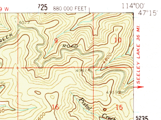 Reduced fragment of topographic map en--usgs--063k--050676--(1959)--N047-15_W114-15--N047-00_W114-00; towns and cities Arlee