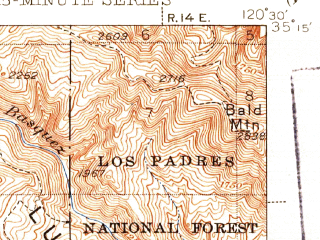 Reduced fragment of topographic map en--usgs--063k--050700--(1942)--N035-15_W120-45--N035-00_W120-30; towns and cities Arroyo Grande, Grover Beach, Oceano, Pismo Beach