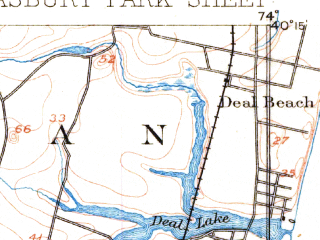 Reduced fragment of topographic map en--usgs--063k--050710--(1888)--N040-15_W074-15--N040-00_W074-00; towns and cities Brick Township, Lakewood, Point Pleasant, Asbury Park, Manasquan