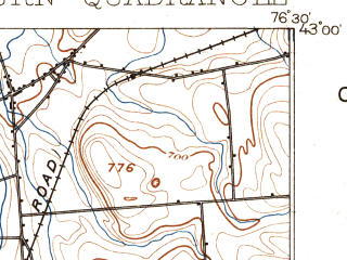 Reduced fragment of topographic map en--usgs--063k--050790--(1899)--N043-00_W076-45--N042-45_W076-30; towns and cities Auburn, Union Springs, Aurora, Cayuga