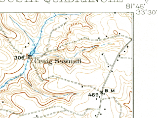 Reduced fragment of topographic map en--usgs--063k--050797--(1921)--N033-30_W082-00--N033-15_W081-45; towns and cities Augusta, Jackson
