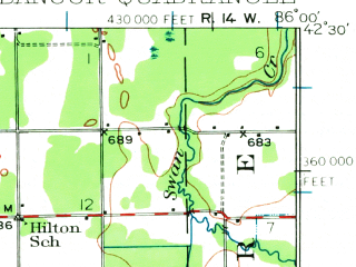 Reduced fragment of topographic map en--usgs--063k--050931--(1927)--N042-30_W086-15--N042-15_W086-00; towns and cities Bangor, Breedsville