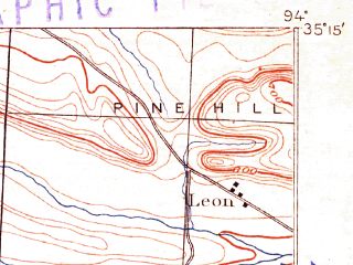Reduced fragment of topographic map en--usgs--063k--050941--(1906)--N035-15_W094-15--N035-00_W094-00; towns and cities Greenwood, Mansfield