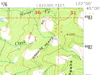 Reduced fragment of topographic map en--usgs--063k--051012--(1956)--N045-00_W122-15--N044-45_W122-00