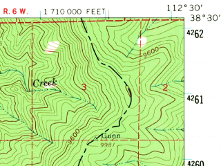 Reduced fragment of topographic map en--usgs--063k--051050--(1958)--N038-30_W112-45--N038-15_W112-30; towns and cities Beaver