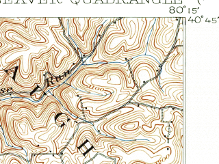 Reduced fragment of topographic map en--usgs--063k--051051--(1901)--N040-45_W080-30--N040-30_W080-15; towns and cities Aliquippa, Beaver, Monaca, New Brighton, Rochester