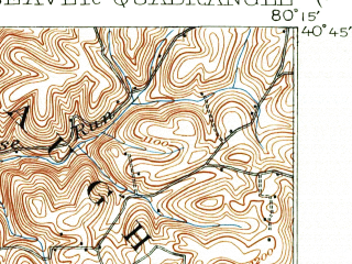 Reduced fragment of topographic map en--usgs--063k--051051--(1904)--N040-45_W080-30--N040-30_W080-15; towns and cities Aliquippa, Beaver, Monaca, New Brighton, Rochester