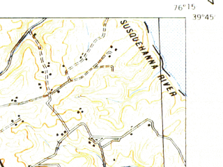 Reduced fragment of topographic map en--usgs--063k--051118--(1942)--N039-45_W076-30--N039-30_W076-15; towns and cities Bel Air South, Bel Air North, Bel Air, Fallston, Jarrettsville