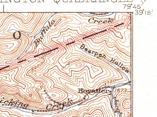 Reduced fragment of topographic map en--usgs--063k--051130--(1941)--N039-15_W080-00--N039-00_W079-45; towns and cities Belington, Montrose