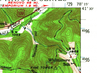Reduced fragment of topographic map en--usgs--063k--051195--(1941)--N041-30_W078-30--N041-15_W078-15