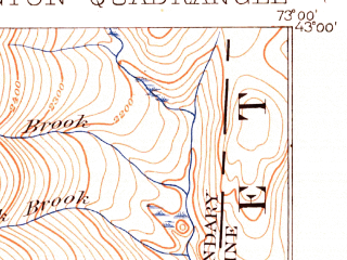Reduced fragment of topographic map en--usgs--063k--051202--(1898)--N043-00_W073-15--N042-45_W073-00; towns and cities Bennington, North Bennington, Old Bennington