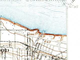 Reduced fragment of topographic map en--usgs--063k--051213--(1902)--N041-30_W082-00--N041-15_W081-45; towns and cities Lakewood, North Olmsted, Parma Heights, Brook Park, Bay Village