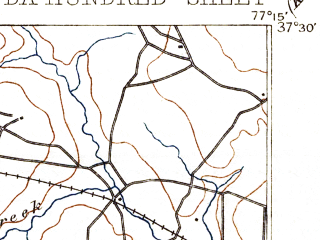 Reduced fragment of topographic map en--usgs--063k--051245--(1894)--N037-30_W077-30--N037-15_W077-15; towns and cities Hopewell, Chester, Colonial Heights, Bellwood, Bensley