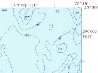 Reduced fragment of topographic map en--usgs--063k--051319--(1956)--N043-30_W070-30--N043-15_W070-15; towns and cities Biddeford, Kennebunkport