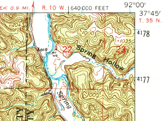 Reduced fragment of topographic map en--usgs--063k--051374--(1954)--N037-45_W092-15--N037-30_W092-00; towns and cities Fort Leonard Wood