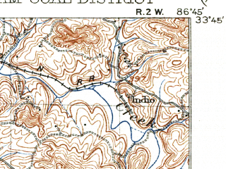 Reduced fragment of topographic map en--usgs--063k--051408--(1906)--N033-45_W087-00--N033-30_W086-45 in area of Bayview Lake; towns and cities Birmingham, Forestdale, Tarrant, Fultondale, Gardendale