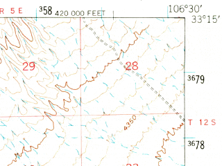Reduced fragment of topographic map en--usgs--063k--051482--(1948)--N033-15_W106-45--N033-00_W106-30