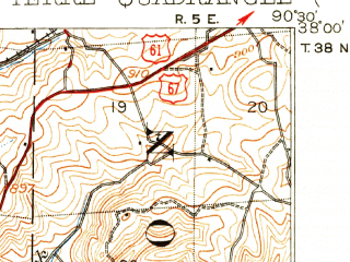 Reduced fragment of topographic map en--usgs--063k--051626--(1905)--N038-00_W090-45--N037-45_W090-30; towns and cities Flat River, Irondale, Leadwood