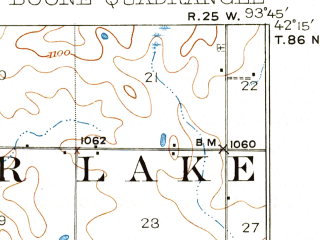 Reduced fragment of topographic map en--usgs--063k--051635--(1916)--N042-15_W094-00--N042-00_W093-45; towns and cities Boone, Fraser