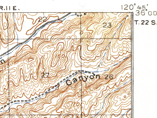 Reduced fragment of topographic map en--usgs--063k--051727--(1919)--N036-00_W121-00--N035-45_W120-45