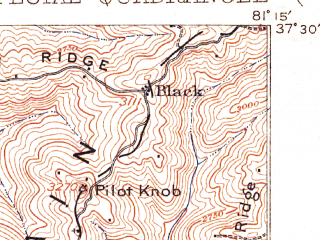 Reduced fragment of topographic map en--usgs--063k--051742--(1911)--N037-30_W081-30--N037-15_W081-15; towns and cities Keystone, Montcalm, Northfork