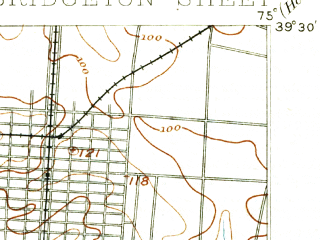 Reduced fragment of topographic map en--usgs--063k--051771--(1894)--N039-30_W075-15--N039-15_W075-00; towns and cities Millville, Bridgeton, Fairton, Rosenhayn