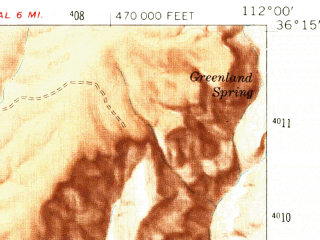 Reduced fragment of topographic map en--usgs--063k--051776--(1962)--N036-15_W112-15--N036-00_W112-00; towns and cities Grand Canyon Village