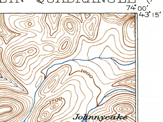 Reduced fragment of topographic map en--usgs--063k--051803--(1902)--N043-15_W074-15--N043-00_W074-00; towns and cities Broadalbin, Galway, Northville