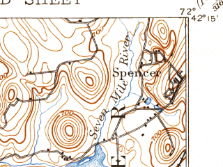 Reduced fragment of topographic map en--usgs--063k--051823--(1893)--N042-15_W072-15--N042-00_W072-00 in area of Quaboag Pond; towns and cities Southbridge, Warren, West Brookfield, East Brookfield