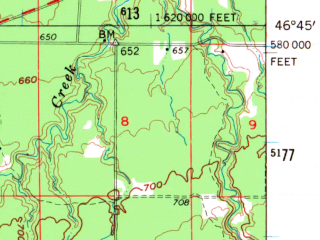 Reduced fragment of topographic map en--usgs--063k--051852--(1961)--N046-45_W091-45--N046-30_W091-30; towns and cities Lake Nebagamon
