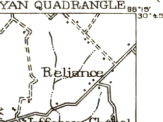 Reduced fragment of topographic map en--usgs--063k--051862--(1956)--N030-45_W096-30--N030-30_W096-15; towns and cities Bryan, College Station