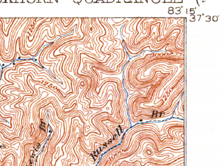 Reduced fragment of topographic map en--usgs--063k--051879--(1913)--N037-30_W083-30--N037-15_W083-15