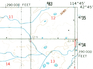 Reduced fragment of topographic map en--usgs--063k--051910--(1959)--N042-45_W115-00--N042-30_W114-45; towns and cities Buhl, Castleford