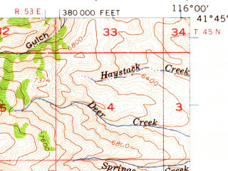 Reduced fragment of topographic map en--usgs--063k--051915--(1956)--N041-45_W116-15--N041-30_W116-00