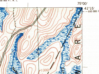 Reduced fragment of topographic map en--usgs--063k--051959--(1943)--N041-15_W075-15--N041-00_W075-00; towns and cities East Stroudsburg, Arlington Heights