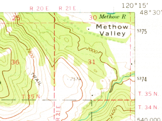 Reduced fragment of topographic map en--usgs--063k--051974--(1969)--N048-30_W120-30--N048-15_W120-15