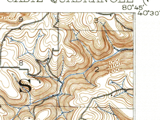 Reduced fragment of topographic map en--usgs--063k--051998--(1903)--N040-30_W081-00--N040-15_W080-45; towns and cities Hopedale, Richmond, Smithfield