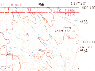 Reduced fragment of topographic map en--usgs--063k--052006--(1961)--N040-15_W117-45--N040-00_W117-30
