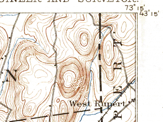 Reduced fragment of topographic map en--usgs--063k--052042--(1895)--N043-15_W073-30--N043-00_W073-15 in area of Cossayuna Lake; towns and cities Argyle, Greenwich, Salem, Cambridge